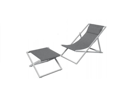 Deck Chair with Foot Stool