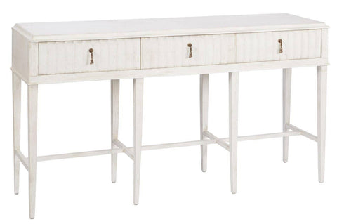 3 drawer Painted Console Table