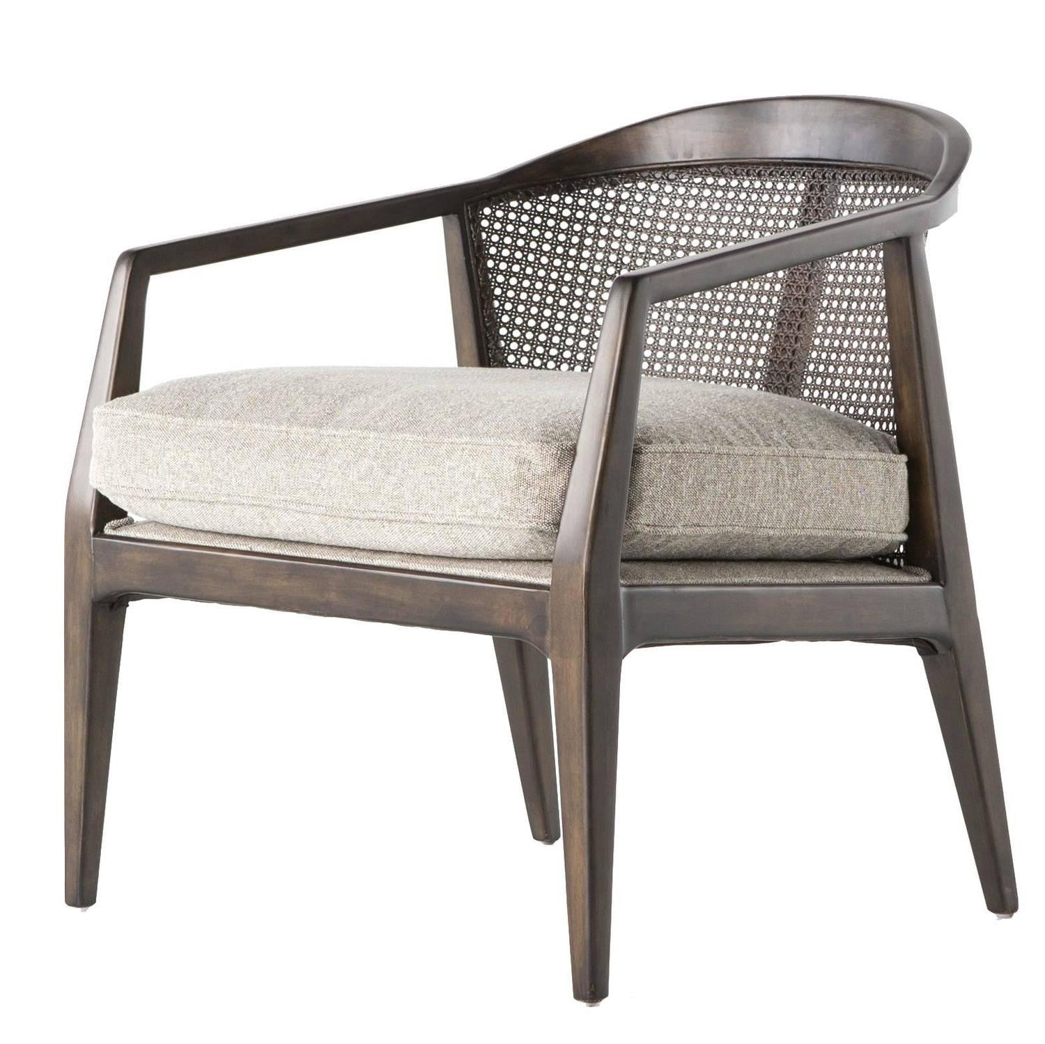 Exceptionnel Rattan And Wood Armchair