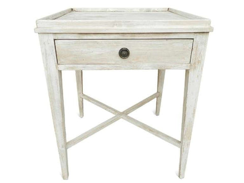 Whitewashed Side Table - Hamptons Furniture, Gifts, Modern & Traditional