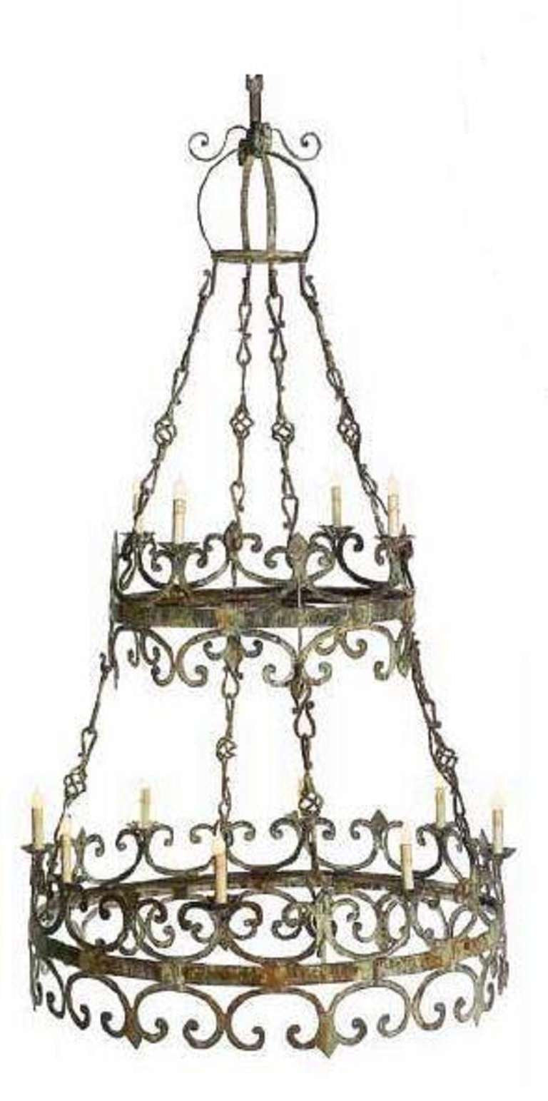 Large two tier chandelier english country home large two tier chandelier arubaitofo Image collections
