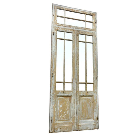 Mirrored Primitive Painted Wood Door