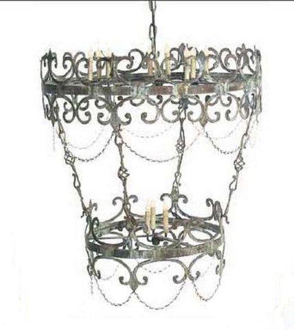 Reversed Two Tier Chandelier