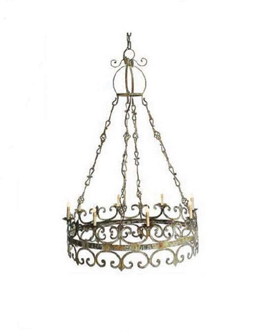 Antiqued Iron Chandelier