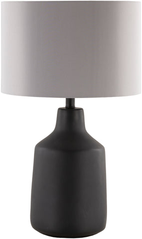 Matt Black Stone Lamp with Shade