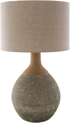 Glass & Jute Table Lamp