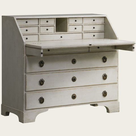 Painted Writing Desk with Drawers