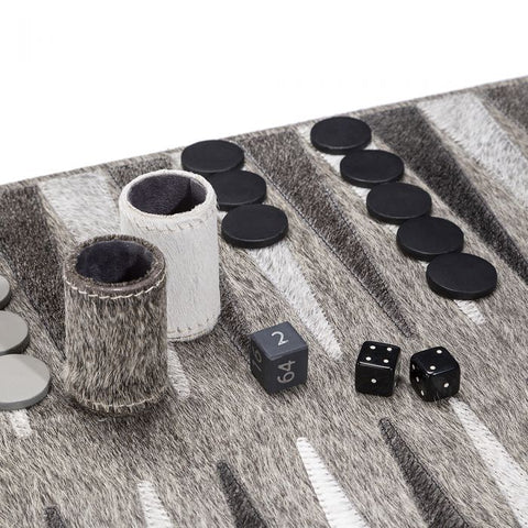 Hair on Hide Backgammon Set | Hamptons gifts