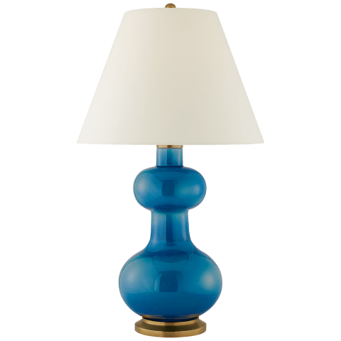 Chambers Large Table Lamp in Blue