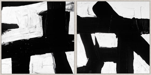 Abstract Black & White Paintings