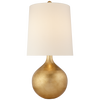 tear drop style gilded table lamp in silver or grey finish