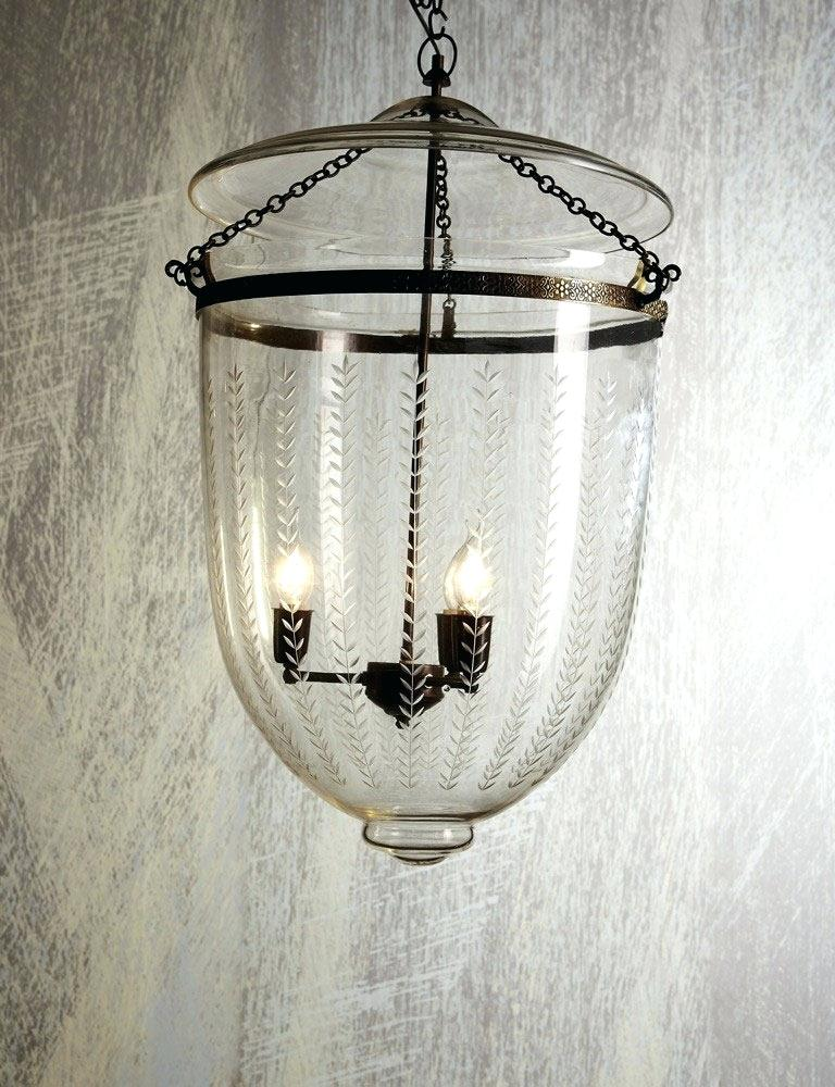 Lantern and Bell Jar, Large - Vertical Clear Leaf Pendant Light - Hamptons Furniture, Gifts, Modern & Traditional