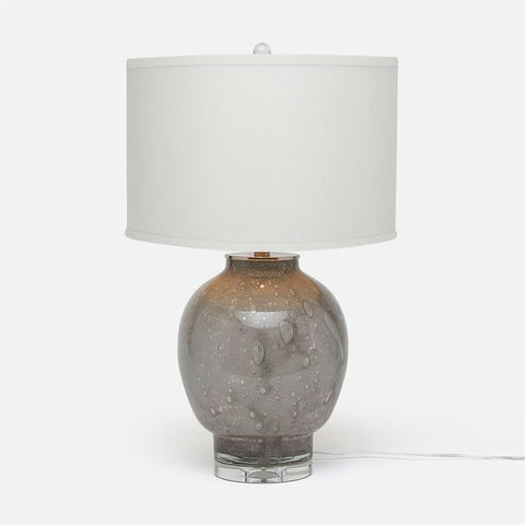Plum Grey Glass Table Lamp