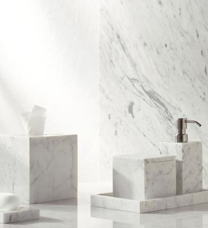 Italian Marble Bath Accessories - Various Items and Prices - Hamptons Furniture, Gifts, Modern & Traditional