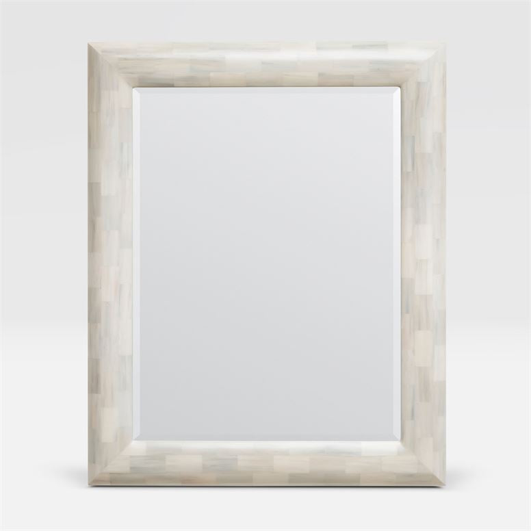 Faux Horn Domed Rectangular Mirror - Hamptons Furniture, Gifts, Modern & Traditional