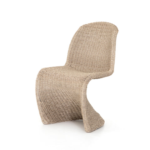 Outdoor Dining Chair in Wicker