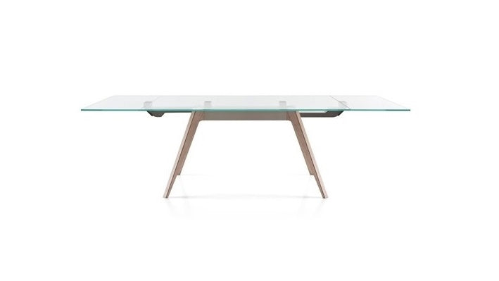 Modern Extendable Glass Top Dining Table - Hamptons Furniture, Gifts, Modern & Traditional