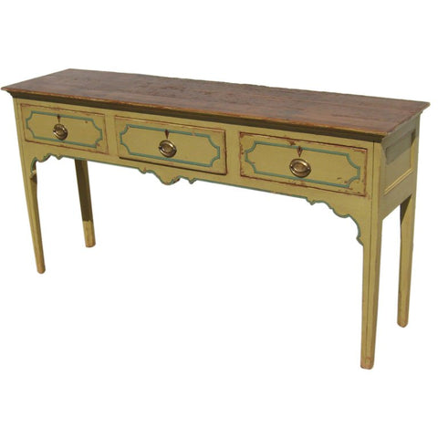 Antique Painted Pine Server