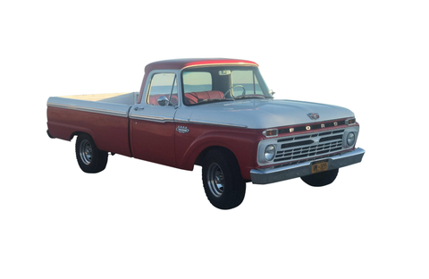 Ford Pick Up Truck 1966 long bed straight 6 engine with after market carburetor