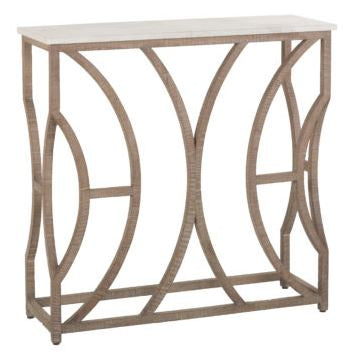 Oak and Marble Console Table - Hamptons Furniture, Gifts, Modern & Traditional
