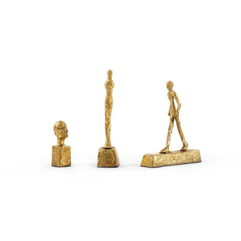 Gold Leaf Statues Set of 3