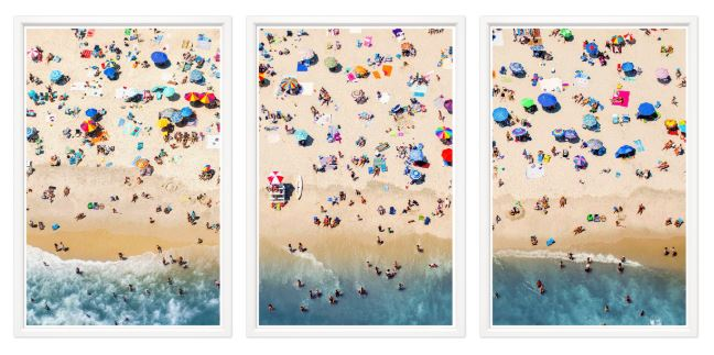 Triple framed Ariel Photographs - Hamptons Furniture, Gifts, Modern & Traditional