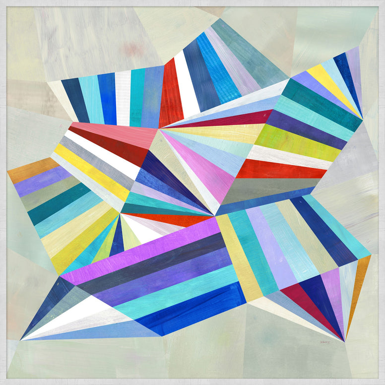 Bright Abstract on Silver Leaf Canvas - Hamptons Furniture, Gifts, Modern & Traditional
