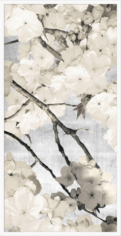 Blossom Prints on Silver Leaf Background - Hamptons Furniture, Gifts, Modern & Traditional