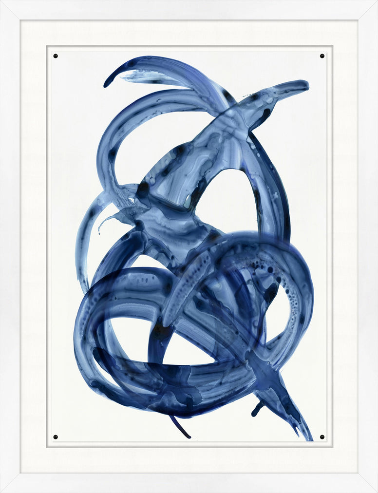 Painted Blue Swirl Prints - Hamptons Furniture, Gifts, Modern & Traditional