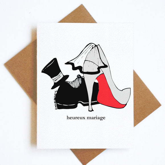 Card Heureux Mariage