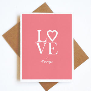 Card Love & Marriage