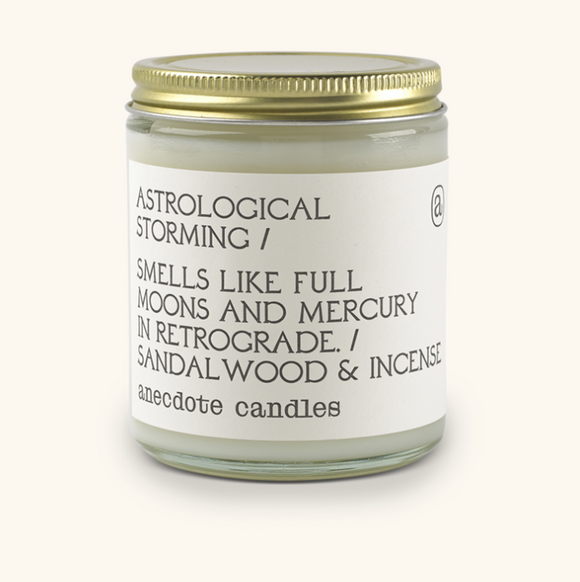 Anecdote - Astrological storming candle