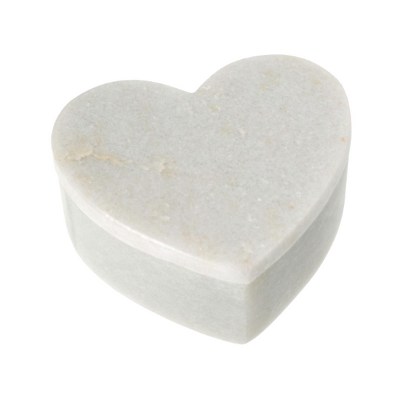 Marble heart box with lid