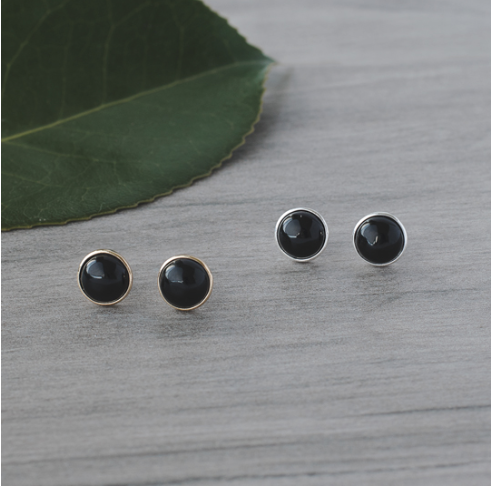 Glee Anytime studs- black onyx