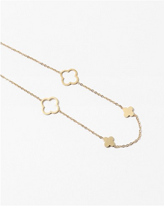 Studio P Gold clover necklace