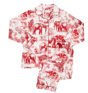 Cat's Pajamas Safari Toile Red pj