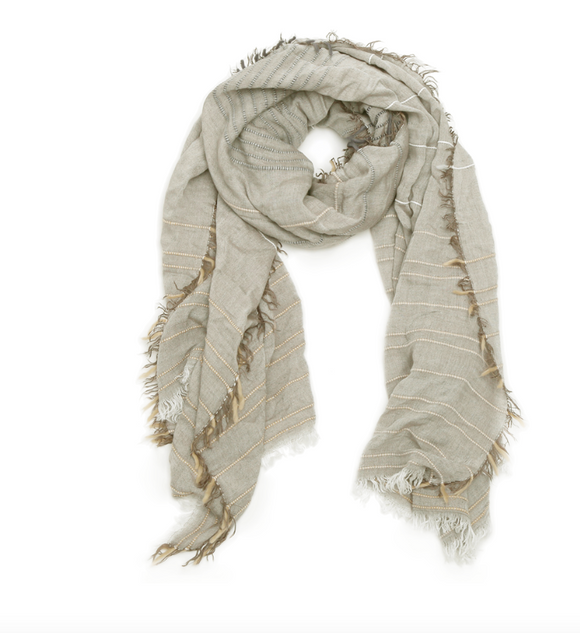 Foulard Pickstitch taupe