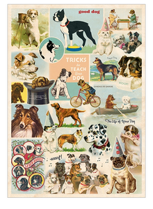 Cavallini Wrap Dog Collage