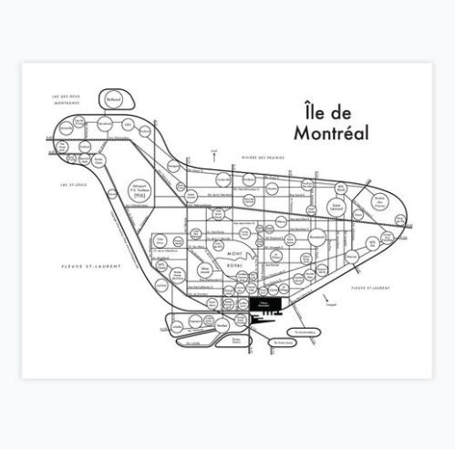Archie's Press Montreal Map