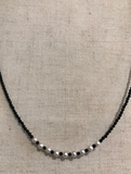 Marilyn Mayman Onyx and pearl necklace