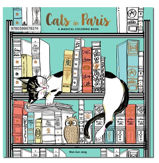 Cats in Paris- an Adult Coloring Book