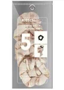 Kitsch Satin Sleep Scrunchie Neutral
