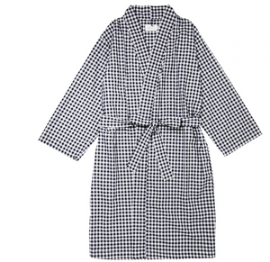 The Cat's Pajamas Gingham Kimono Robe