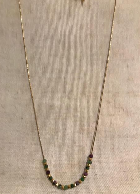 Sophie Deschamps Ruby Zoisite necklace