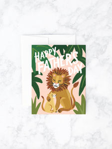 Card  Father's Day Lion