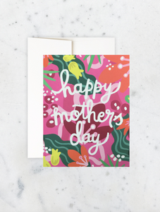 Card Fuchsia Flora Mother's Day