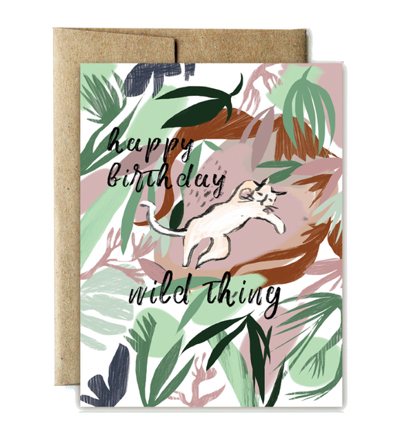 Card Jungle Cat Birthday