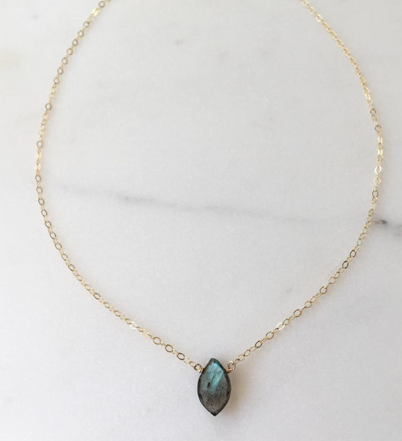 Token Marquise necklace