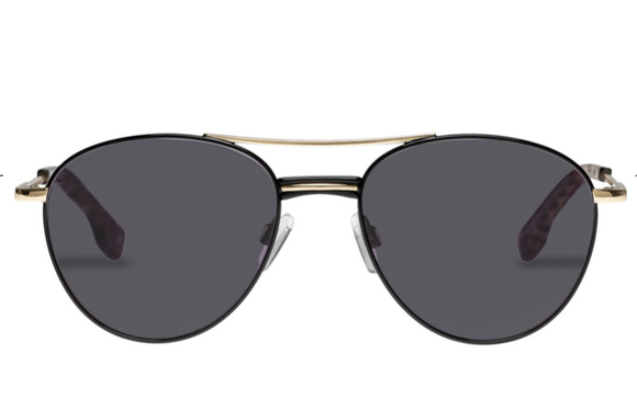LeSpecs Alter Ego Black Gold Sunglasses