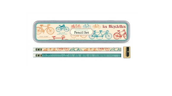 Cavallini Pencil Set Vintage Bicycles